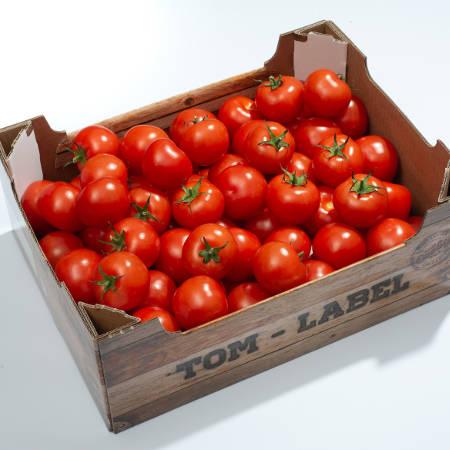 Een kistje tomaten van Breugem Horticulture